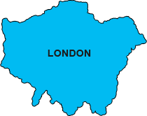 Areas covered in London